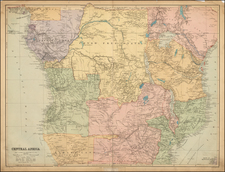East Africa and West Africa Map By Edward Stanford