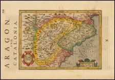 Spain Map By Jodocus Hondius - Michael Mercator