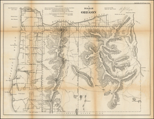 Oregon Map By U.S. General Land Office