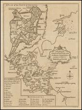 New England Map By London Magazine / John Lodge