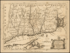 New England, Connecticut and Rhode Island Map By Thomas Kitchin