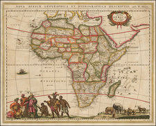 Africa and Africa Map By Hugo Allard