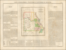 Carte Geographique, Statistique et Historique du Missouri By Jean Alexandre Buchon