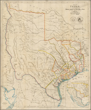 Texas and Southwest Map By John Arrowsmith