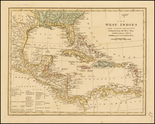 Caribbean and Central America Map By Robert Wilkinson