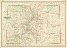 Colorado and Colorado Map By George H. Adams & Son