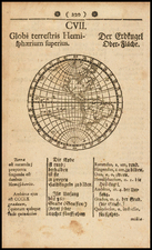 Western Hemisphere, South America and America Map By Johann Amos Comenii