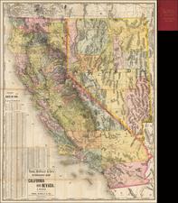 Southwest, Nevada and California Map By Rand McNally & Company