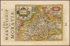 Poland and Czech Republic & Slovakia Map By Jodocus Hondius / Samuel Purchas