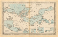 Russia, Baltic Countries and Scandinavia Map By Charles Desilver