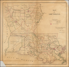South and Louisiana Map By General Land Office