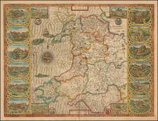 Wales Map By John Speed