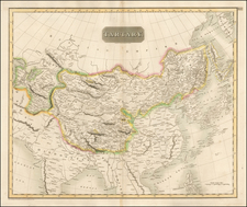 China, Japan, Korea, India & Sri Lanka, Other Islands and Central Asia & Caucasus Map By John Thomson