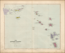 Caribbean and Other Islands Map By Edward Stanford