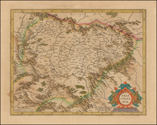 Romania Map By Henricus Hondius