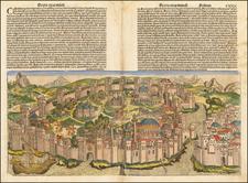 Constantinopolis By Hartmann Schedel