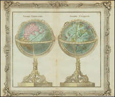 Globe Terrestre [and] Globe Celeste By Louis Brion de la Tour