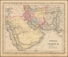 Central Asia & Caucasus and Middle East Map By Charles Desilver