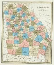 Southeast Map By Thomas Gamaliel Bradford
