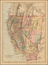 Nevada and California Map By J. David Williams