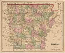 South and Arkansas Map By Sidney Morse  &  Samuel Breese