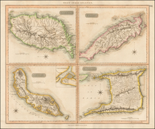 Caribbean and Other Islands Map By John Thomson
