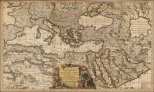 Turkey, Central Asia & Caucasus, Middle East, Turkey & Asia Minor and North Africa Map By Nicolaes Visscher I