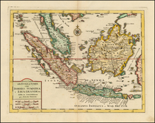 Southeast Asia and Indonesia Map By Isaak Tirion