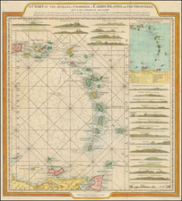 Caribbean and Other Islands Map By William Faden