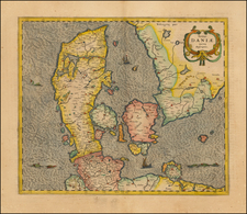 Denmark Map By Henricus Hondius / Jan Jansson