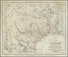 Texas Map By Charles Picquet