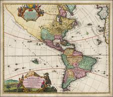 America Map By Johann Baptist Homann