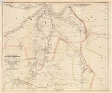 East Africa and West Africa Map By Augustus Herman Petermann