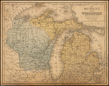 Midwest, Michigan and Wisconsin Map By Andrew McNally
