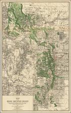 Rocky Mountains Map By Hoen & Co.