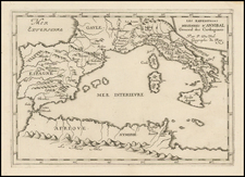 Italy, Spain and Mediterranean Map By Pierre Du Val