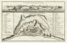 South America Map By Jacques Nicolas Bellin