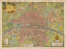 France and Paris Map By Louis Charles Desnos