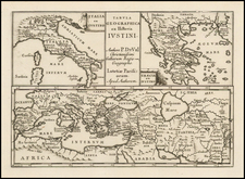 Italy and Greece Map By Pierre Du Val