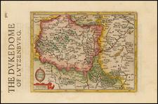 Luxembourg Map By Henricus Hondius - Gerhard Mercator