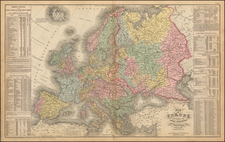 Europe and Europe Map By Cowperthwait, Desilver & Butler