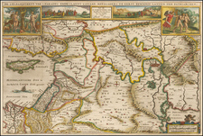 Middle East, Holy Land, Turkey & Asia Minor and Balearic Islands Map By Jacob Savry