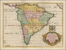 South America Map By Edward Wells