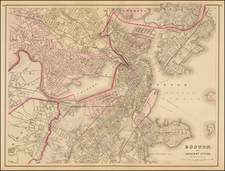 New England Map By O.W. Gray