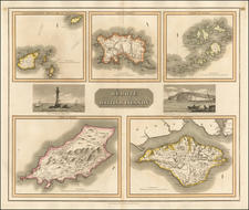 British Isles and British Counties Map By John Thomson