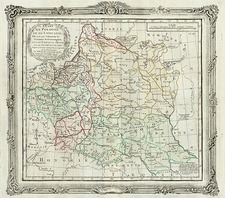 Poland and Baltic Countries Map By Louis Brion de la Tour