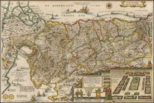 Holy Land Map By Jacob Savry
