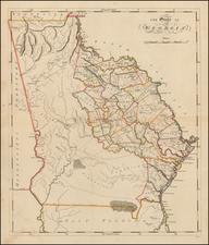 Southeast and Georgia Map By Mathew Carey