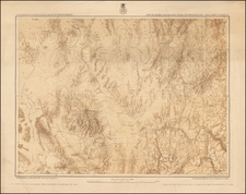 Southwest, Nevada, Rocky Mountains and Utah Map By George M. Wheeler