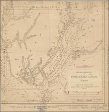 Alaska Map By U.S. Coast & Geodetic Survey / George Davidson